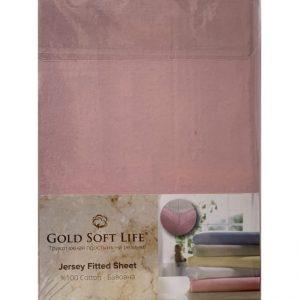 купить Простынь трикотажная на резинке Gold Soft Life Terry Fitted Sheet розовый