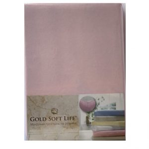 купить Простынь трикотажная на резинке Gold Soft Life Terry Fitted Sheet pink