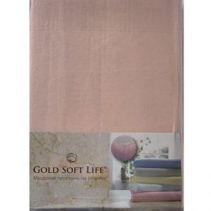 купить Простынь трикотажная на резинке Gold Soft Life Terry Fitted Sheet pudra