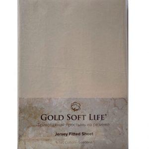 купить Простынь трикотажная на резинке Gold Soft Life Terry Fitted Sheet Бежевый