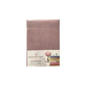 купить Простынь махровая на резинке Gold Soft Life Terry Fitted Sheet лиловый