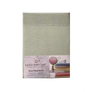 купить Простынь махровая на резинке Gold Soft Life Terry Fitted Sheet Кремовый