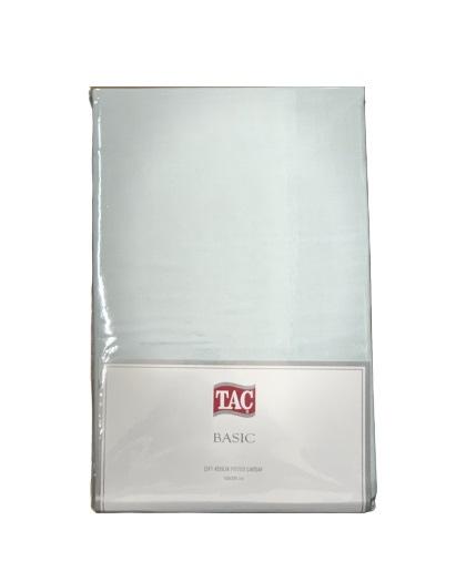 купить Простынь на резинке TAC ранфорс Fitted Basic Ментоловый