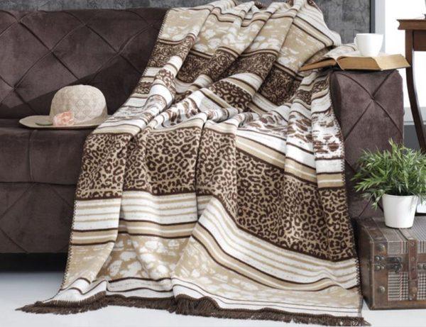 купить Плед Diva Leopard Brown