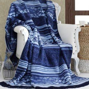 купить Плед Diva Leopard Blue