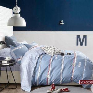 купить Постельное белье Bella Villa Сатин B-0187 Голубой фото