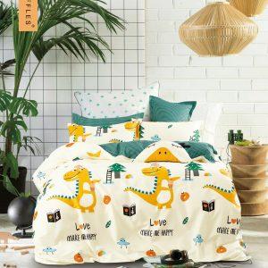 купить Постельное белье Bella Villa Сатин B-0260 Желтый|Голубой фото