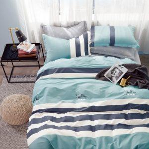 купить Постельное белье Bella Villa Сатин B-0261 Голубой фото