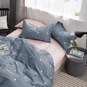 купить Постельное белье Bella Villa Сатин B-0263 Синий|Серый фото