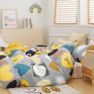 купить Постельное белье Bella Villa Сатин B-0283 Желтый|Серый фото