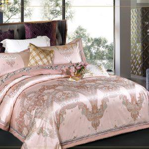 купить Постельное белье Bella Villa Сатин-Жаккард J-0061 Розовый фото