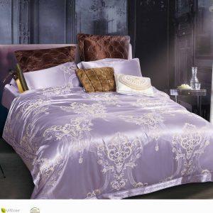 купить Постельное белье Bella Villa Сатин-Жаккард J-0065 Фиолетовый фото