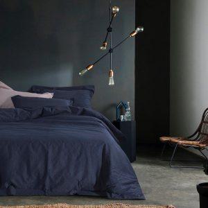 купить Постельное белье Bella Villa вареный хлопок W-0007 Синий фото