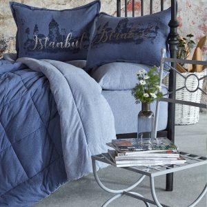 купить Постельное белье с одеялом Karaca Home - Istanbul indigo 2019-2 Синий фото