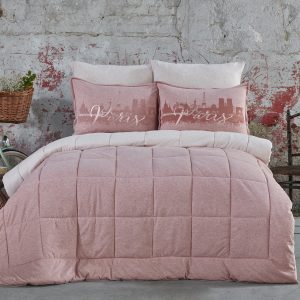 купить Постельное белье с одеялом Karaca Home - Paris pudra 2019-2 Розовый фото