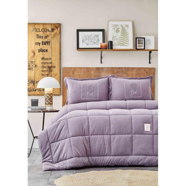 купить Постельное белье с одеялом Karaca Home - Toffee lila Лиловый фото