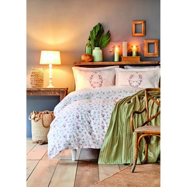 купить Постельное белье с Пике Karaca Home - Sonya yesil пике 200*230 Розовый фото