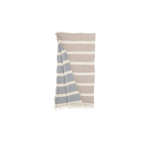купить Плед-накидка Buldans - Quatro beige-lead blue
