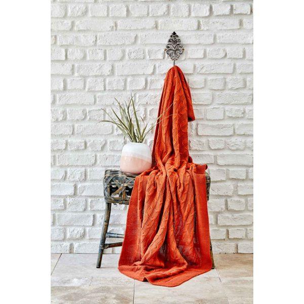купить Плед вязанный Karaca Home - Sofa bordo