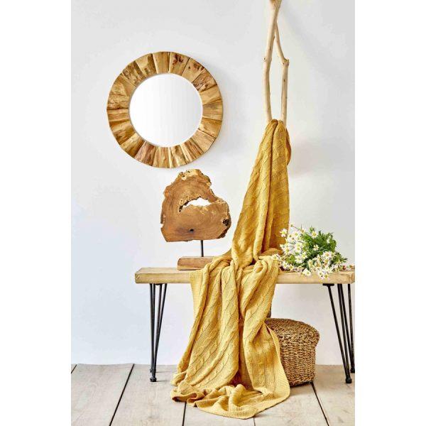 купить Плед вязанный Karaca Home - Sofa hardal