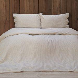 купить Постельное белье Barine Washed cotton - Shint beige Бежевый фото