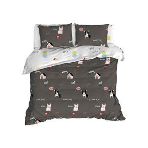 купить Постельное белье Enlora Home - Papcik antrasit Серый фото