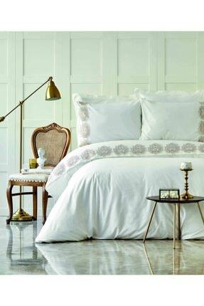 купить Постельное белье Karaca Home - Daniella pudra с гипюром Белый фото