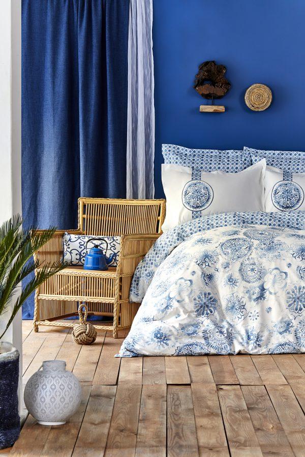 купить Постельное белье Karaca Home - Felinda mavi 2019-2 Голубой фото