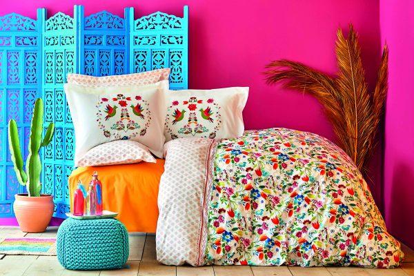 купить Постельное белье Karaca Home - Parlin fusya 2020-2 ПВХ Розовый фото