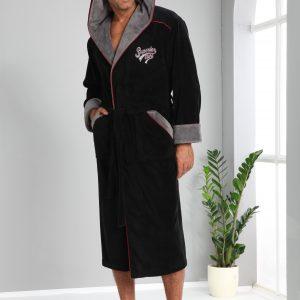 купить Мужской халат Nusa длинный с капюшоном 1170
