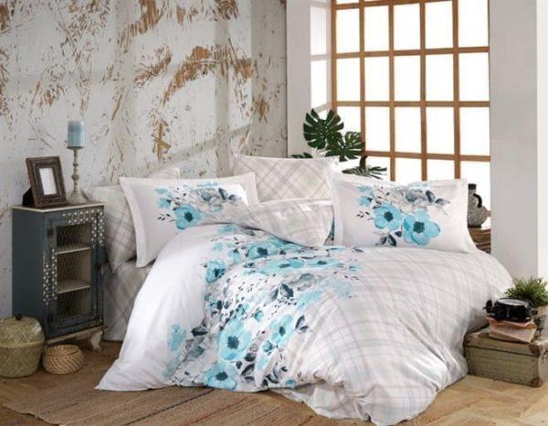 купить Постельное белье HOBBY Poplin Belinda blue Голубой фото