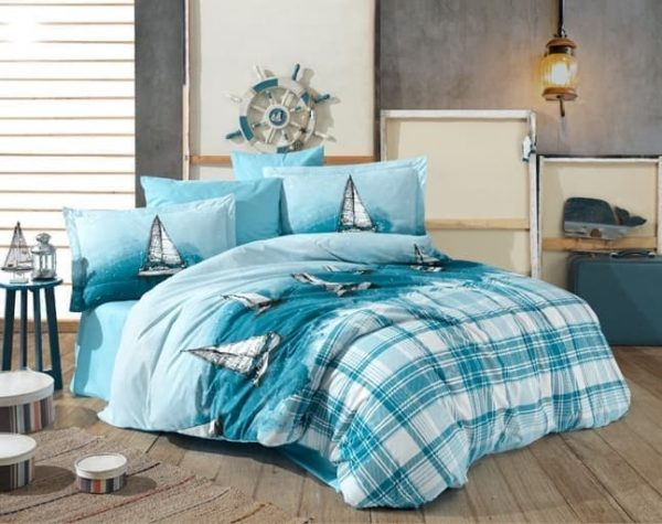 купить Постельное белье HOBBY Poplin Maritim blue Голубой фото
