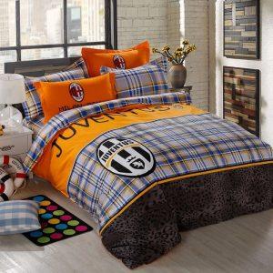 купить Постельное белье Сатин Люкс 40S 1621 Оранжевый|Голубой фото