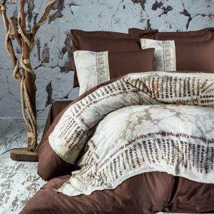 купить Постельное белье Marie Lou Natur Akura Kahve Коричневый фото