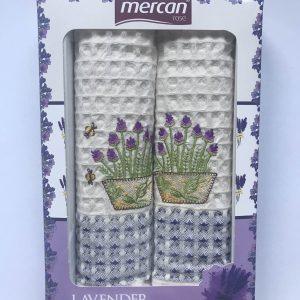купить Набор кухонных полотенец Mercan вафельных Lavander V1 2 шт  фото