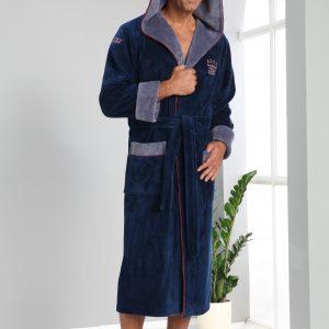 купить Мужской халат Nusa длинный с капюшоном 2995