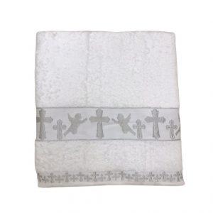 купить Крыжма для крещения Sikel Organic Cotton 70x140 серебро Белый фото