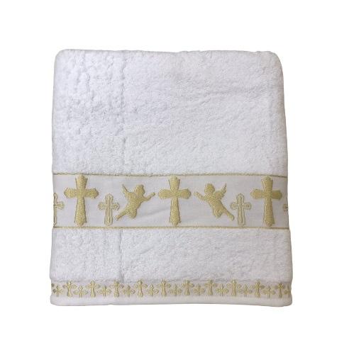 купить Крыжма для крещения Sikel Organic Cotton 70x140 золото Белый фото