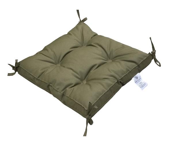 купить Подушка для стула Vende Classic с завязками капучино Зеленый фото