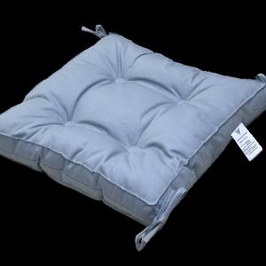 купить Подушка для стула Vende Classic с завязками серый Голубой фото