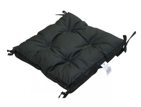 купить Подушка для стула Vende Classic с завязками хаки Серый Черный фото