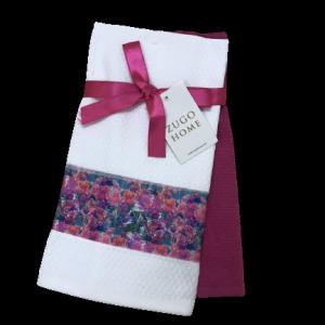 купить Набор кухонных полотенец Zugo Home Wildflowers 2 шт фуксия  фото