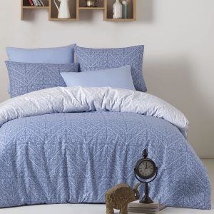 купить Постельное белье Zugo Home ранфорс Vira Голубой фото