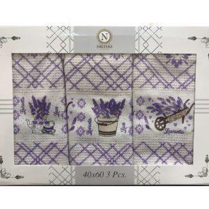 купить Набор кухонных полотенец Nilteks Lavanta 3 шт  фото