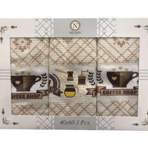 купить Набор кухонных полотенец Nilteks Coffee Shop 3 шт  фото