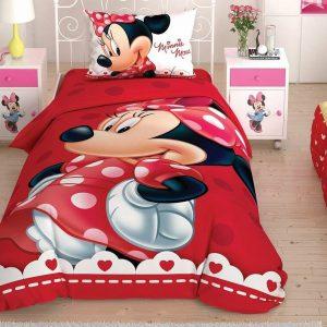 купить Постельное белье TAC Disney Minnie Lovely Glitter подростковое Красный фото