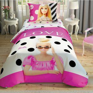 купить Постельное белье TAC Disney Barbie Glitter подростковое Розовый фото