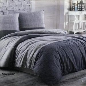 купить Постельное белье Zugo Home ранфорс Spencer V1 Серый фото