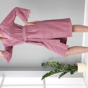 купить Женский халат Nusa средней длинны без капюшона 4085 Gulkurusu