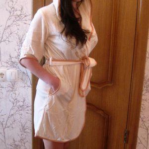 купить Женский халат Nusa велюр